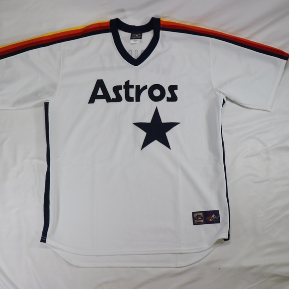 best loved 5df62 8fa02 KEN CAMINITI Houston Astros 1988 Throwback Jersey